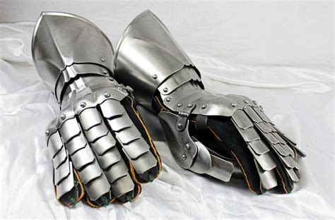 Armoir Gloves by Forged Armored Steel Battle Gauntlets Sca Larp
