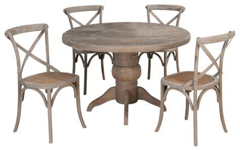 jofran webber 6 piece round pedestal dining room set in jofran burnt grey 5 piece round pedestal dining room set