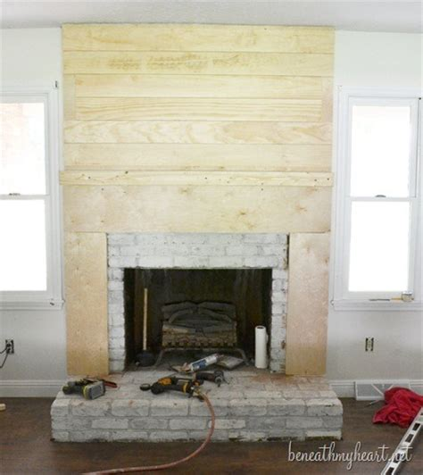 how to cover up a fireplace how to build a fireplace surround beneath my heart