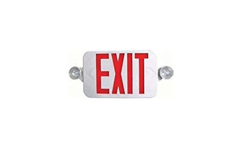 combination emergency exit sign and light with battery backup 120v ciata lighting all led decorative red exit sign