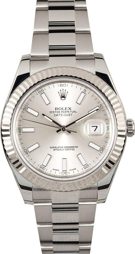 Rolex Oyster Silver rolex datejust ii 116334 silver index