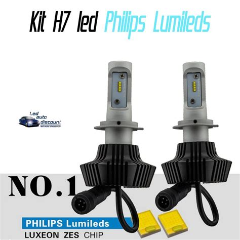 lade h7 philips pack oules led h7 philips lumileds 6000k led auto