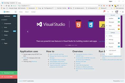 barra superior html bootstrap construyendo aplicaciones elegantes con asp net mvc core 2