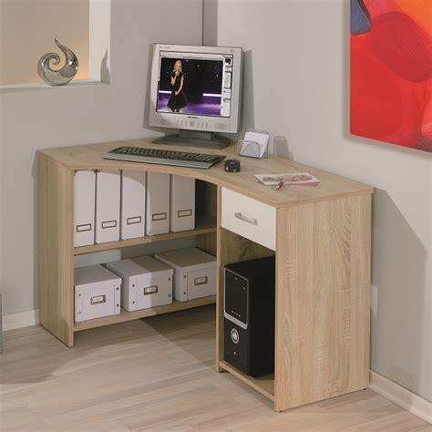 Banbridge Corner Computer Desk In Sonoma Oak With 1 Drawer Corner Computer Desk With Drawers