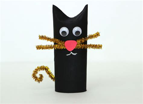 Rol Cat Motif 7 diy toilet roll black cat craft