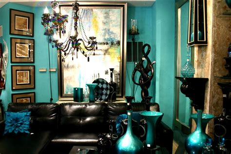 Teal Wallpaper For Living Room by Wallpaper Living Room Ideas For Decorating Teal Black And