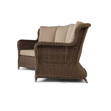 Resin Wicker Sofa by Signature Hardware Alcee Resin Wicker Outdoor Sofa And