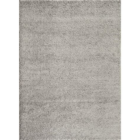 gray rug world rug gallery soft cozy solid light gray 7 ft 10 in x 10 ft indoor shag area rug 2700 l