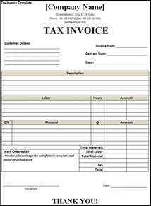 Invoice With Gst Template by Free Tax Invoice Template Excel Invoice Exle