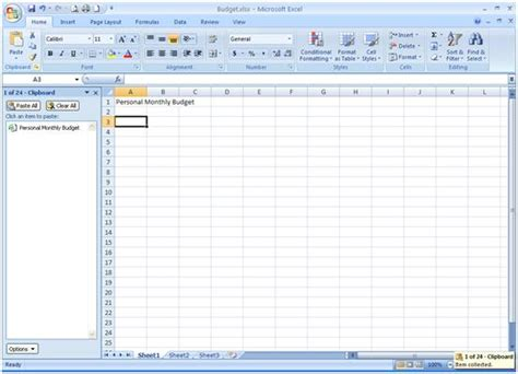 excel 2007 home