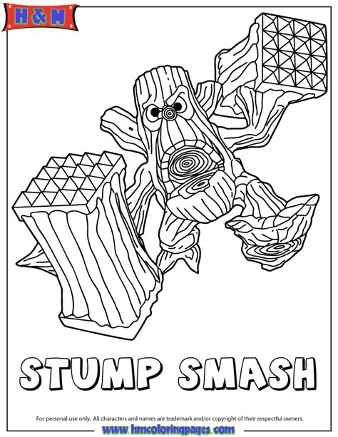 free coloring pages of skylanders giants bouncer