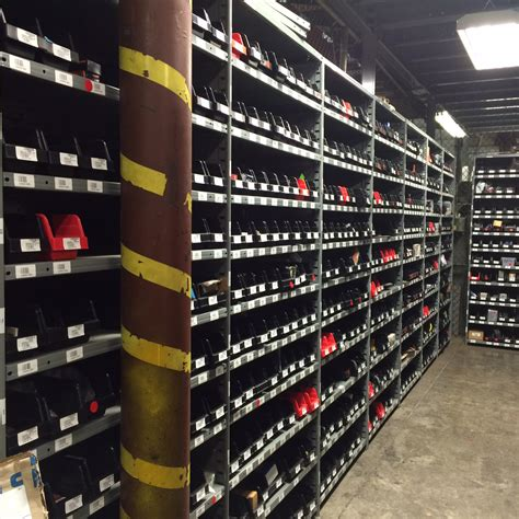 parts room supply customer photos storage bins containers material handling carts dollies and more