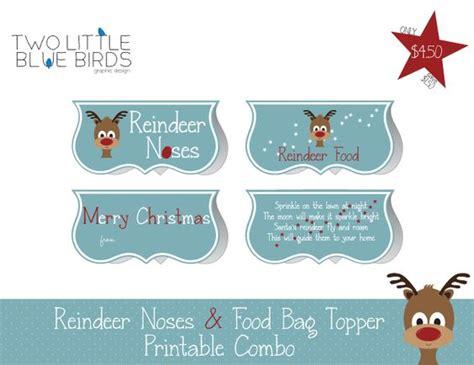 reindeer bag printable reindeer noses food bag topper printable holidays
