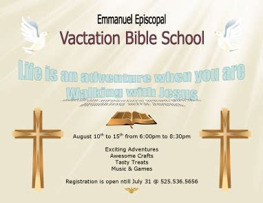 Vacation Bible School Certificate Templates