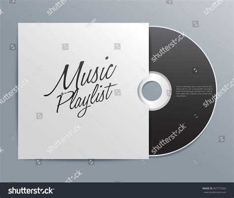 cd song list template cd cover template vector illustration stock vector