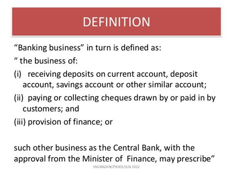 definition of a banker chapter 3 commercial bank