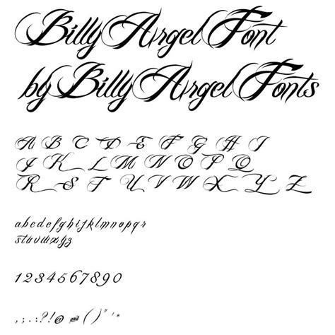 tattoo fonts billy argel billy argel font pics fonts
