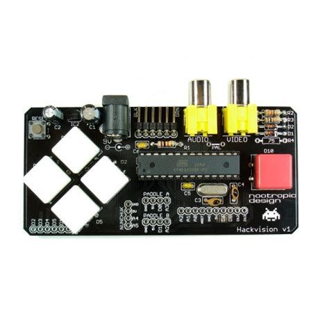 arduino console 33 99 hackvision arduino console kit tinkersphere