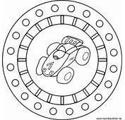 Mandala Race Car  Coloring With A Racing