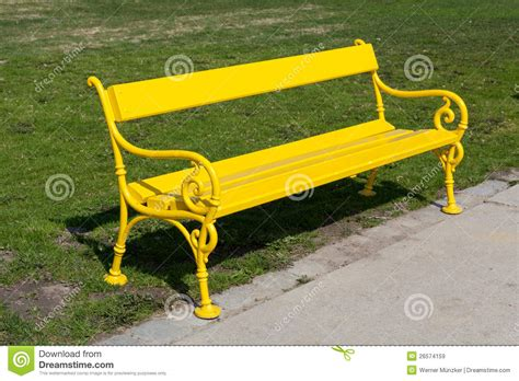 the yellow bench yellow bench royalty free stock images image 26574159