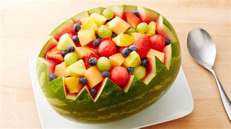 Kitchen Centerpiece Ideas by Carved Watermelon Bowl Recipe Bettycrocker Com