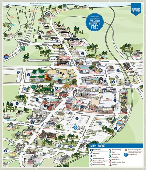 map of freeport texas map of downtown freeport l l bean road race