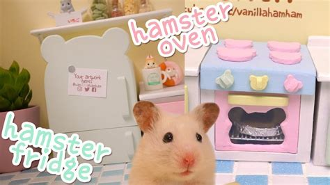 Hamster Kitchen by Diy Miniature Fridge And Oven Building The Hamster