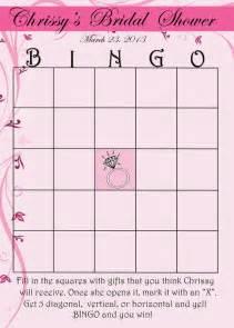 printable custom bridal shower bingo card by weddingfancy