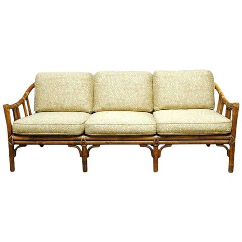 mcguire sofa organic modern bamboo rattan sofa by mcguire chairish