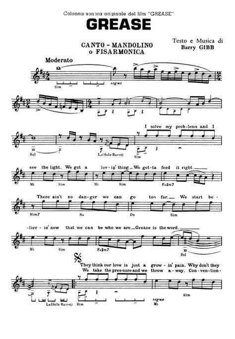Grease Lighting Song Lyrics by Grease Sheet Guitar Chords Lyrics Easy Sheet