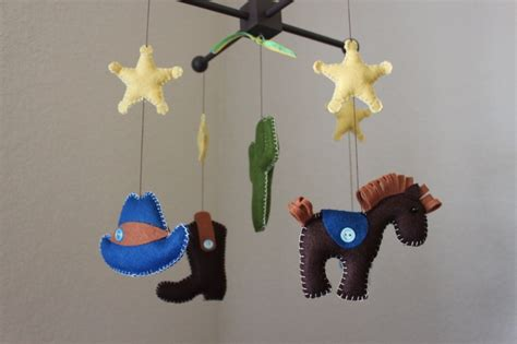 Mibil Rodeo baby crib mobile baby mobile nursery rodeo cowboy mobile quot cowboy western quot you can