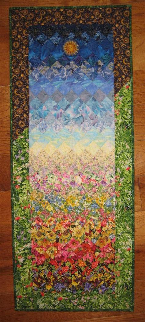 Landscape Fabric Vertical Garden Quilt Summer Garden Fabric Quilted