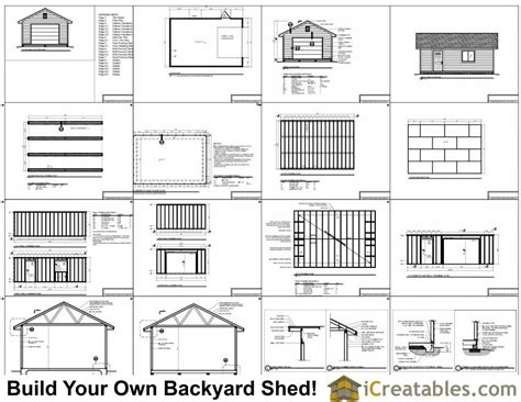 16 x 24 garage plans 16x24 garage shed plans build your own large shed with a