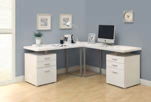White L Shape Desk Monarch Specialties White L Shaped Corner Desk Goedekers