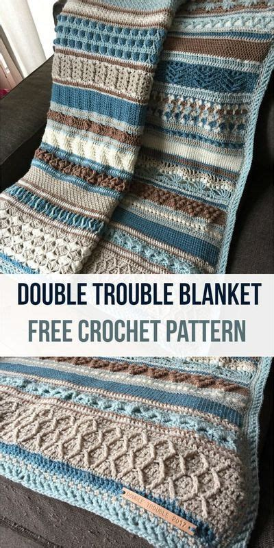 completed double trouble blanket cal  crocheted