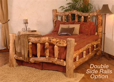 crazy beds aspen log collection crazy horse free form bed crb