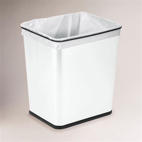 under sink trash can 7 gallon white under the sink can world market