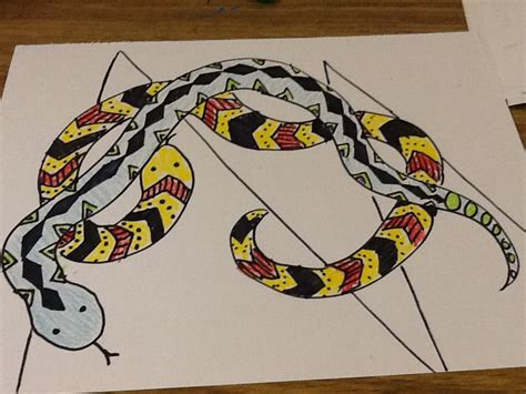 triangle pattern snake 4th and 5th early finisher projects mrs leclaire s art room