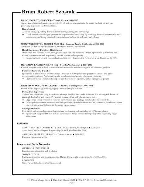 Sle Resume And Biodata Sle Resume With Professional Profile 28 Images Profile Resume Sle 28 Images Pwc Accounting