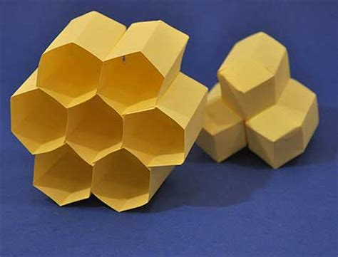 How To Make A Paper Bee - bees create arrays of hexagonal cells in a beehive