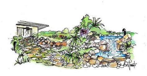 disegno giardino giardino roccioso con cascata come realizzarlo