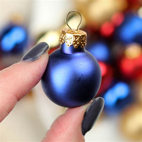 miniature assorted glass christmas ball ornaments