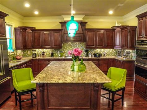 yellow and brown kitchen photo page hgtv