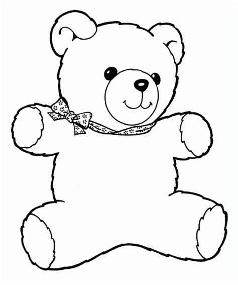 teddy template to print teddy free printable coloring pages