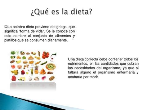 la dieta de la la dieta correcta y su importancia para la