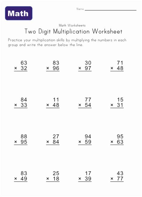 2 X 2 Multiplication Worksheets by Free Coloring Pages Of 2 Digit Multiplication