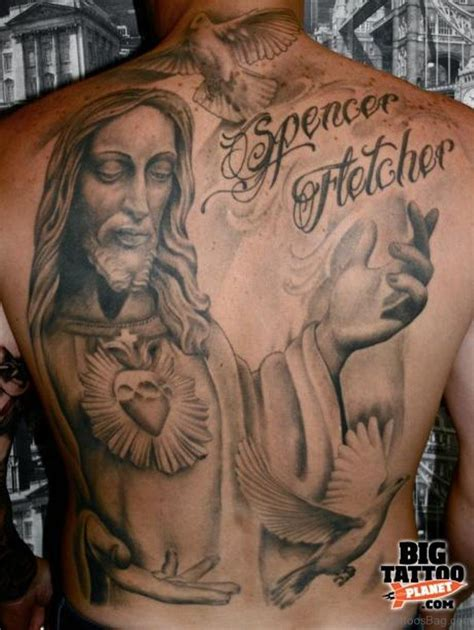 jesus cross tattoos on back 54 graceful religious tattoos on back