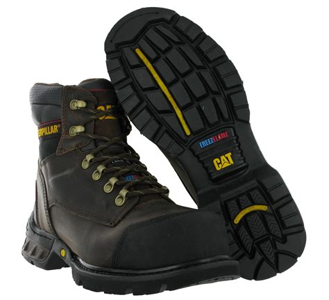 Caterpillar Safety Sleting mens cat caterpillar spartan ff s3 oak steel toe cap car