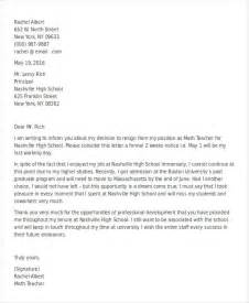 Teachers Resignation Letter by 30 Resignation Letter Templates In Doc Free Premium Templates