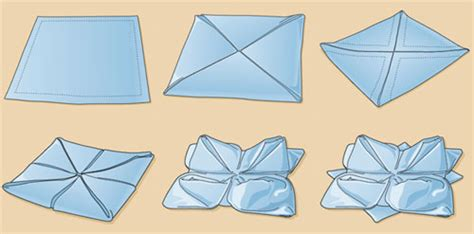 Paper Napkin Folding Flower - napkin folding on napkins folding paper